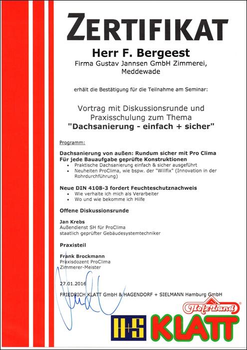 Unsere Vielen Zertifikate Und Auszeichnungen