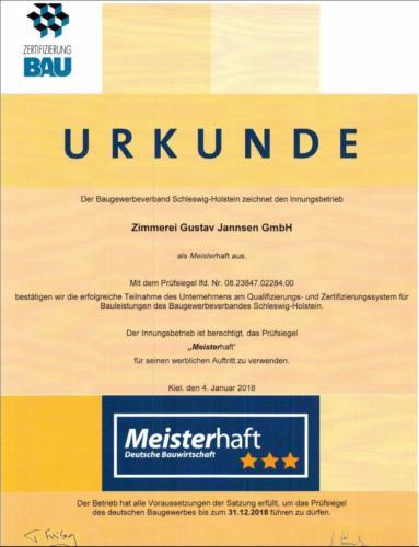 Urkunde-Baugewerbeverband-Schleswig-Holstein-Meisterhaft