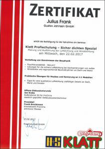Klatt-Profischulung-Sicher-dichten-Spezial-Julius-Frank